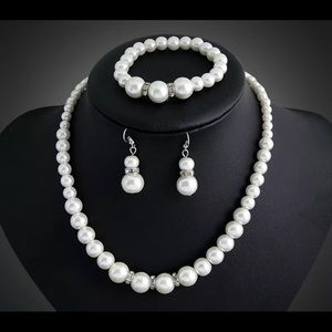 7-8mm Real Natural Freshwater Pearl Necklace Brace